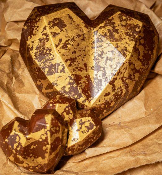 Coração de 3 Vezes Caramelo